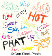 Slang clipart Slang illustrations Doodles Clipartby of