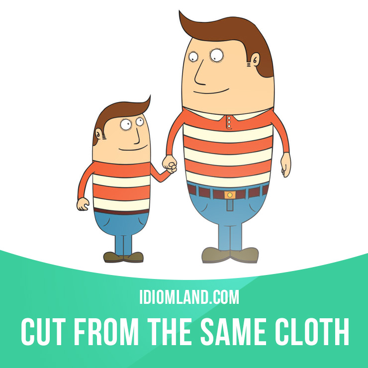 """Slang clipart respect parent From """" same cloth"""" English"""