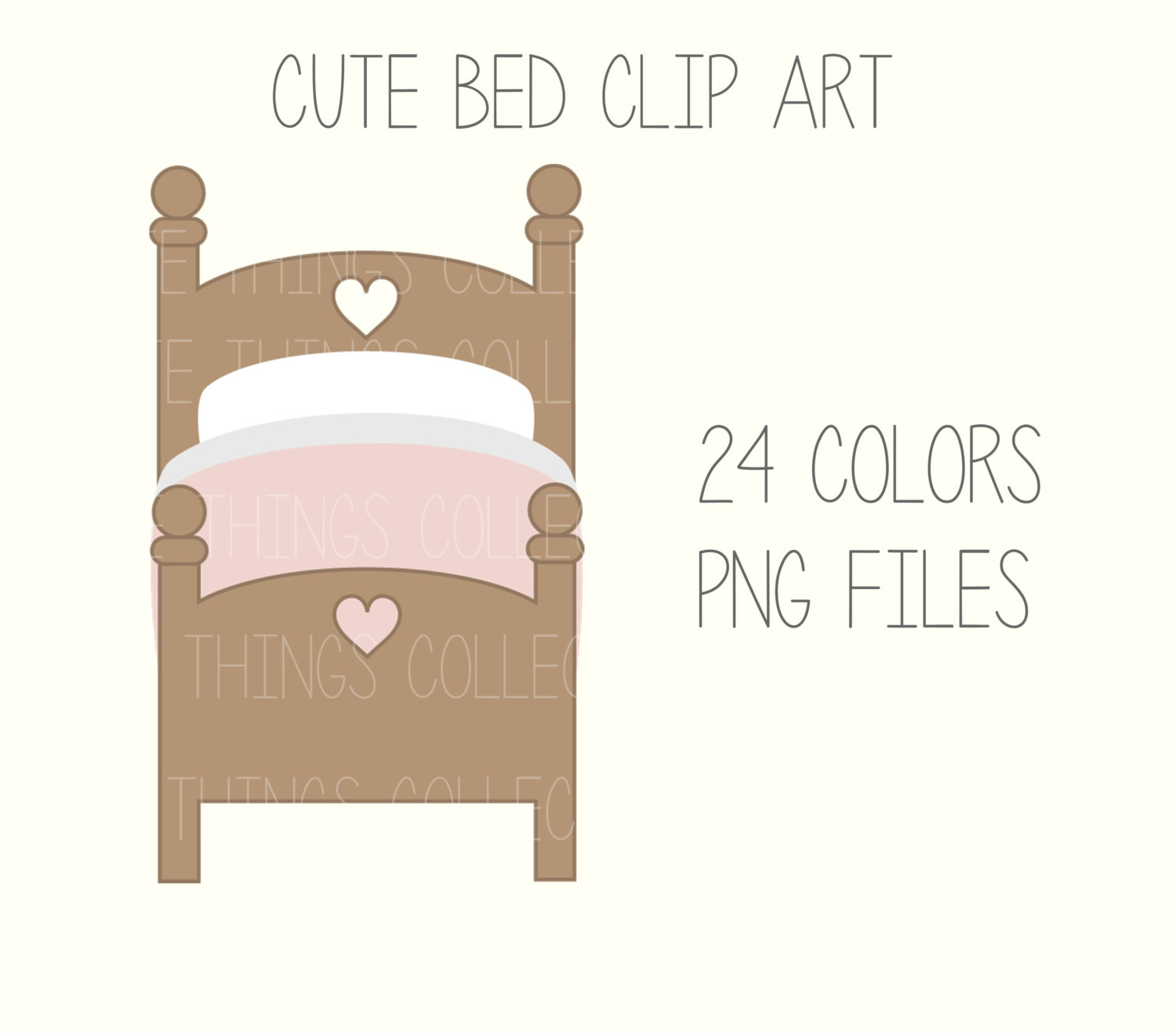 Bed clipart rest sleep Cute  Clip digital is