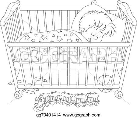 Bed clipart child bedroom Girl · GoGraph Royalty Clip