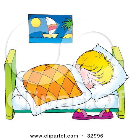 Bed clipart child bedroom Art Endearing For Clipart Illustration