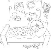 Bed clipart childrens bedroom Bedroom Clip Royalty Child ·
