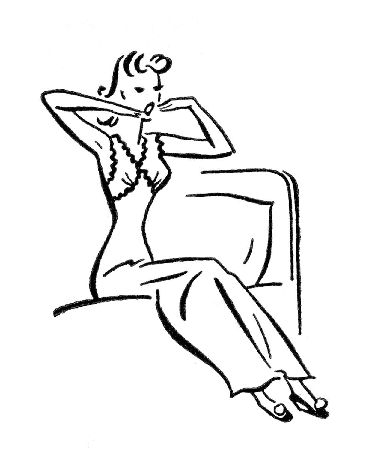 Yawn clipart woke up Well Images Retro Images The