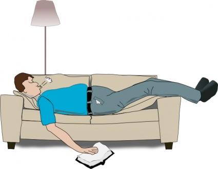 Bed clipart sleepy man Clip Free vectors Addon Human