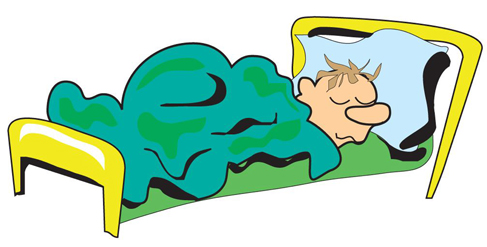 Bed clipart rest sleep Free Clip Cartoon Man Clip