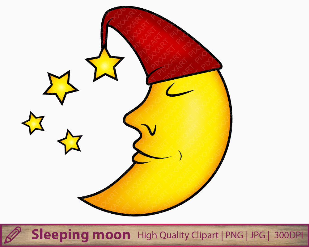 Night clipart moon star Scrapbooking Moon This file is