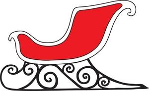 Sleigh clipart red sled Sleigh illustration clipart sleigh Clip