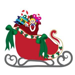 Sleigh clipart cute Christmas collection sled Clipart Batman