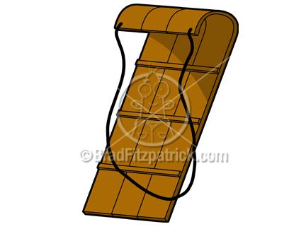 Brown clipart sled Art Clipart Cartoon Cartoon Clip