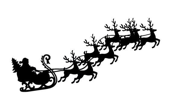 Sleigh clipart flying Follow us Clipart Reindeer And