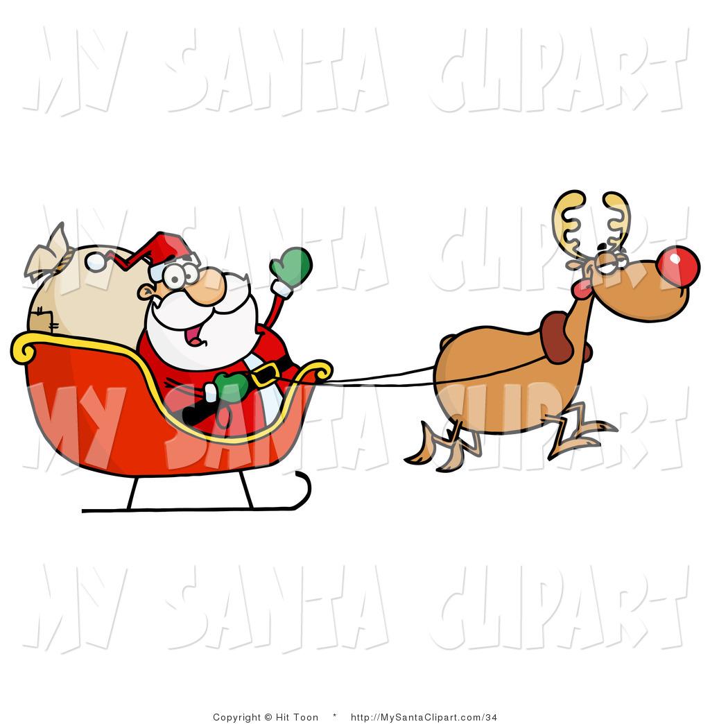 Santa clipart flying #12