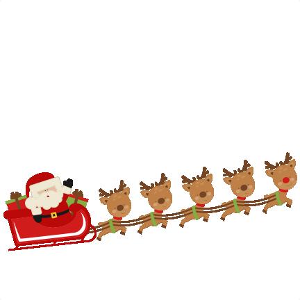 Sleigh clipart flying Clipartsgram flying reindeer Santa's Reindeer