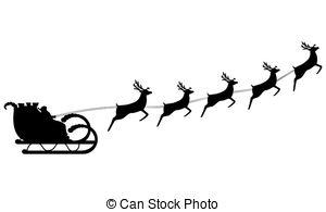 Santa clipart flying #15