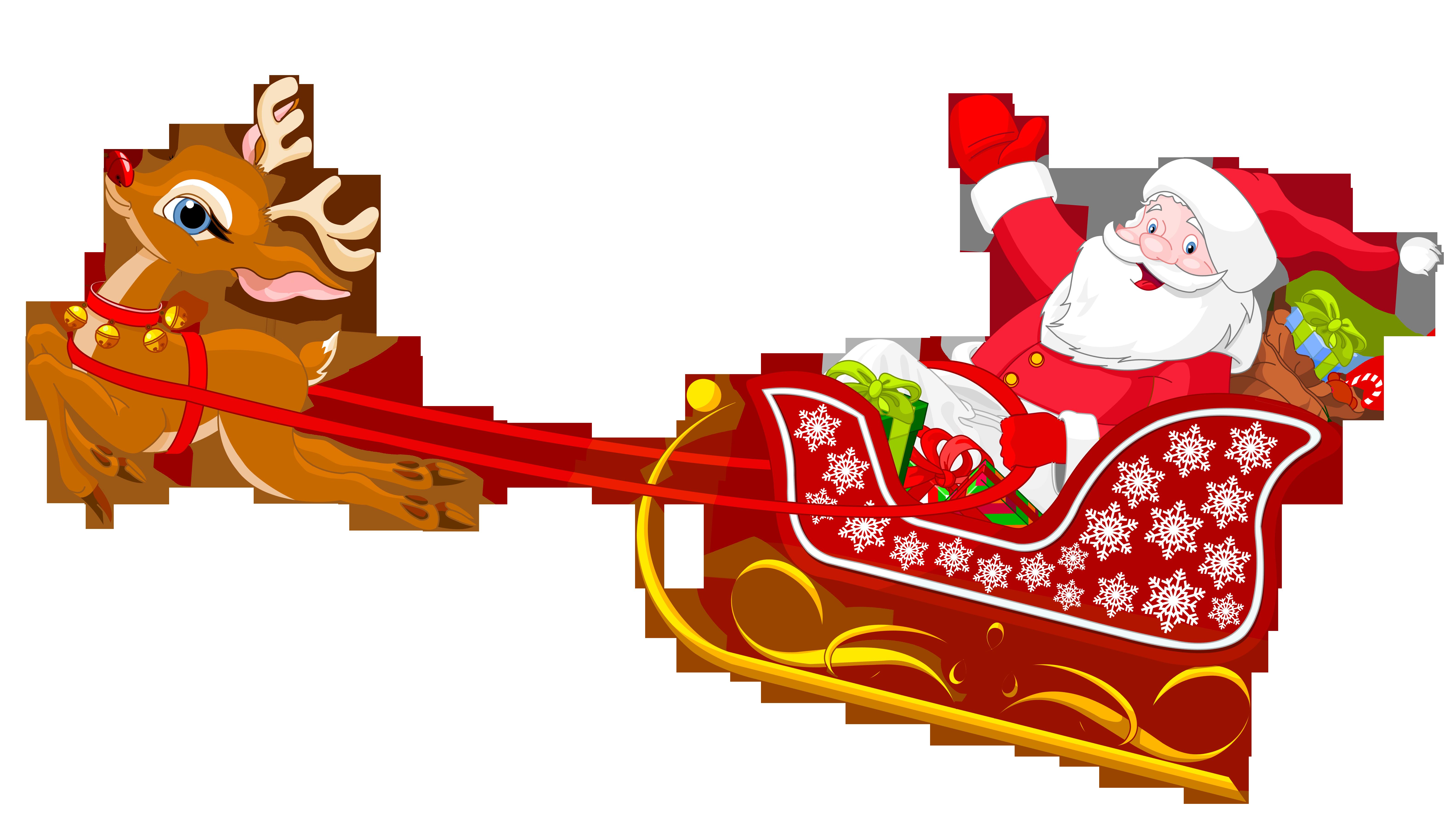 Santa clipart flying #7