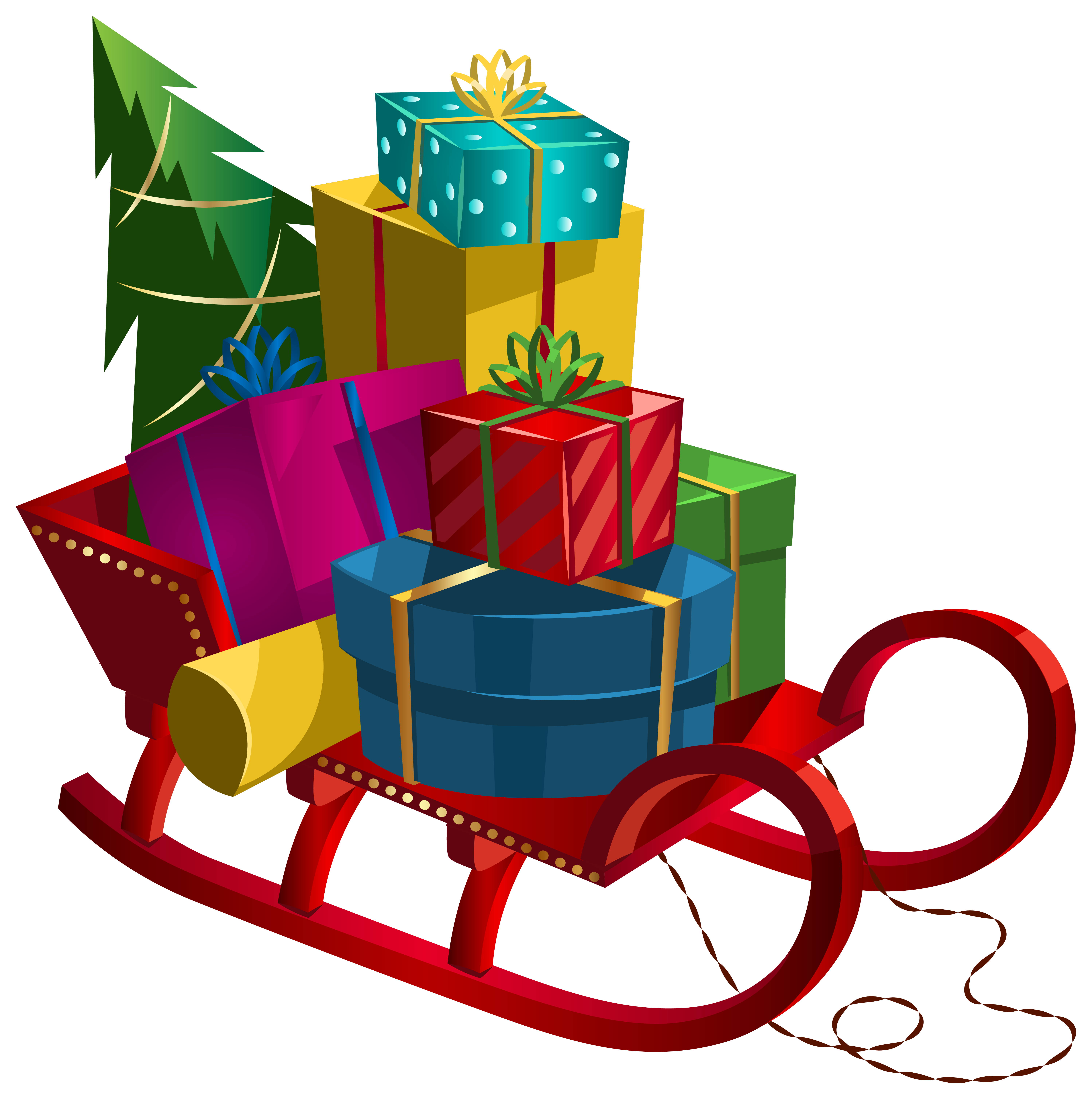 Sleigh clipart gift  full Art Gifts size