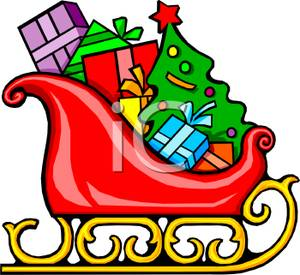 Sleigh clipart gift A Presents Image Santa's Image