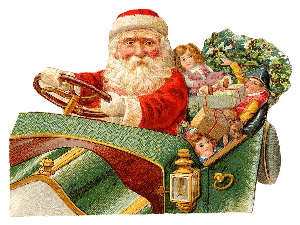 Santa clipart old fashioned #13