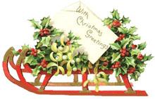 Holley clipart old fashioned – Clipart Art Christmas 101