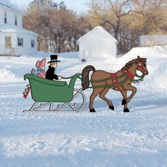 Sleigh clipart one horse open sleigh Open and Patterns Yard horse