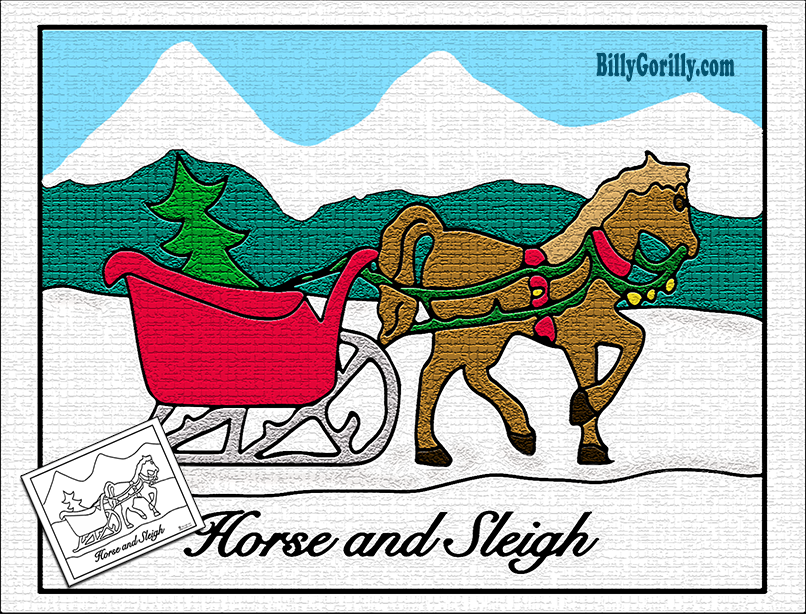 Sleigh clipart one horse open sleigh Wanted friends The We Tweet