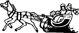 Sleigh clipart one horse open sleigh /holiday/Christmas/assorted_Christmas_stuff ride pngtransparent BW