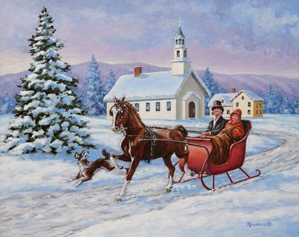 Sleigh clipart one horse open sleigh Sleigh Horse open sleigh