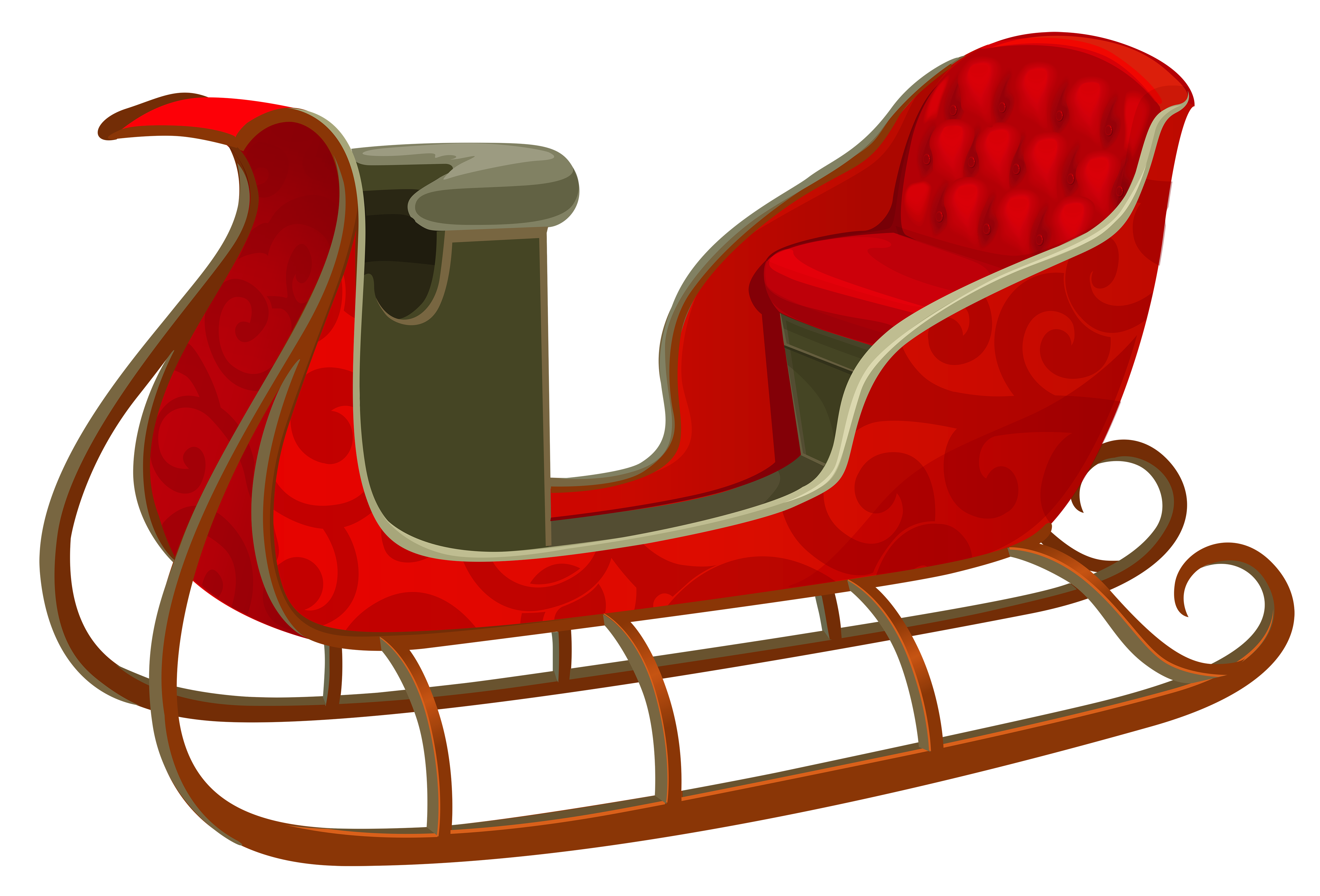 Sleigh clipart red sled PNG Sled Red View Christmas