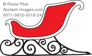 Sleigh clipart red sled Sleigh Christmas a of Royalty