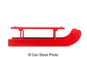 Sleigh clipart red sled 3 white on isolated