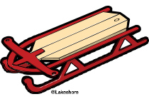 Sleigh clipart red sled Cliparts Red Sled Clipart Sled