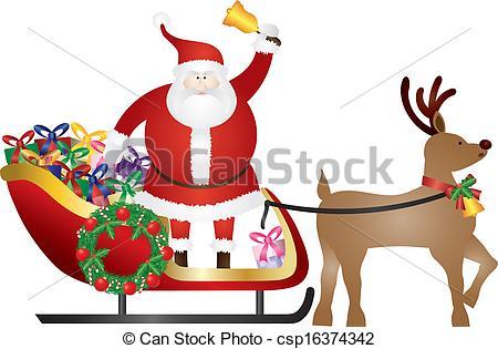 Reindeer clipart presents Santa Presents Delivering Presents Reindeer