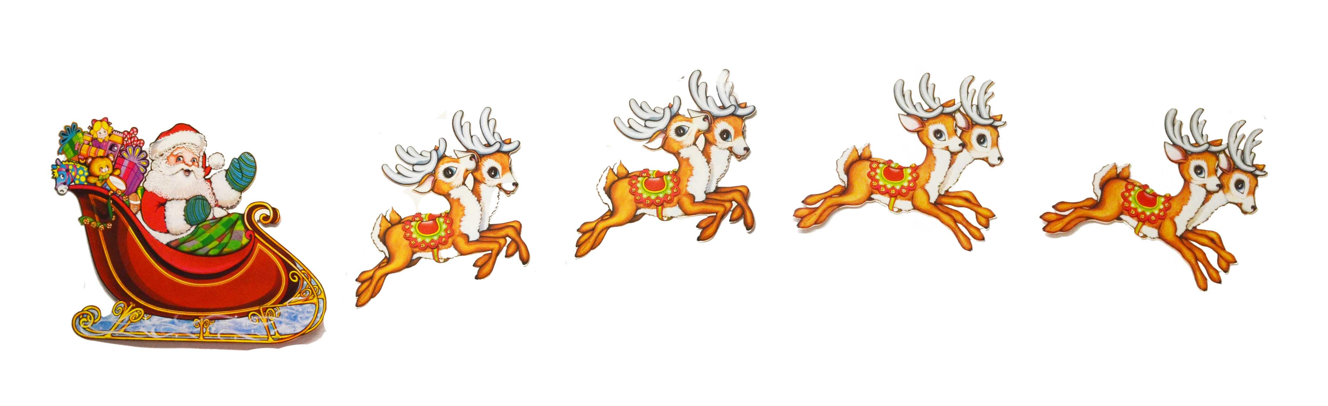 Santa clipart flying #4