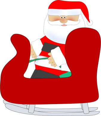Sleigh clipart santa sleigh Santa Clip Art Sleigh Art