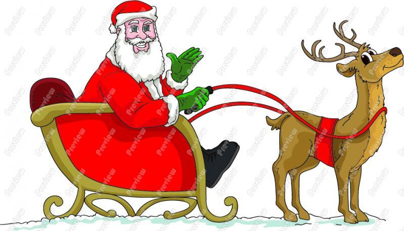 Sleigh clipart santa sleigh Clipart Santa Sled Art Sleigh