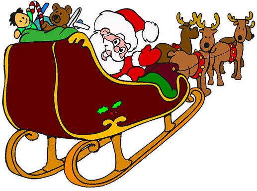 Sleigh clipart santa sleigh Santa Christmas Clipart Free His