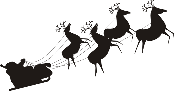 Sleigh clipart santa's slay At  vector Download this