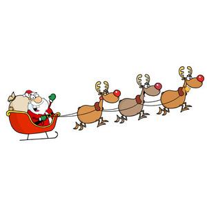 Sleigh clipart santa's slay Reindeer sleigh Reindeer Sleigh clipart