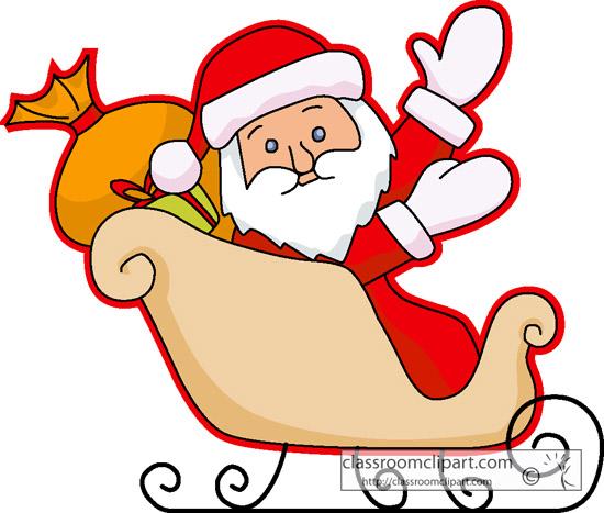 Sleigh clipart santa's slay Collection a Santa Claus