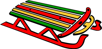 Sleigh clipart snow sled Clipart cliparts Sled Sled Winter