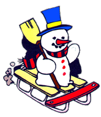 Snowman clipart sledge Clipart Sled Images Clipart Clipart