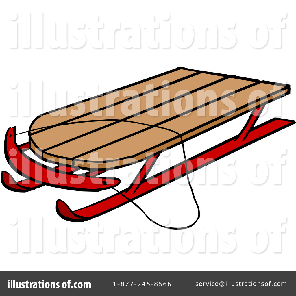 Sleigh clipart snow sledding Cartoon Free Clipart by Illustration