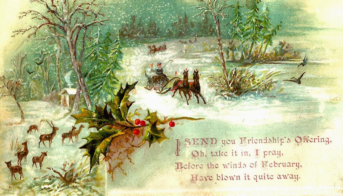 Holley clipart christmas scene Art Clipart winter clipart Scene