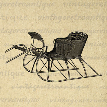 Sleigh clipart vintage Snow Download Sleigh Transfers Wanelo