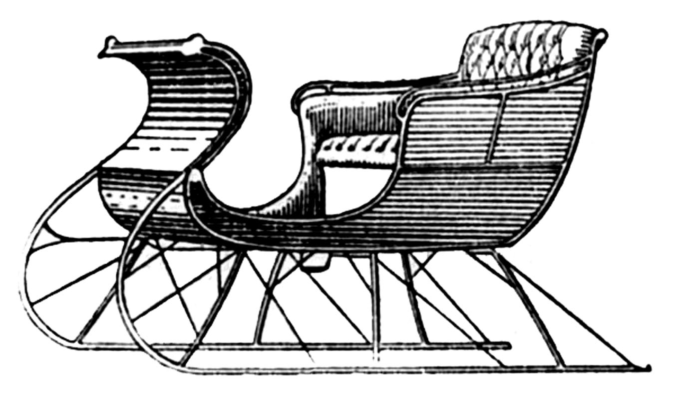 Sleigh clipart vintage Graphic one Drawn for was