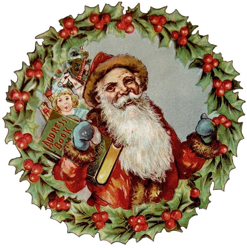 Santa clipart old fashioned #8