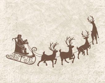 Sleigh clipart vintage Sleigh Vintage Download Reindeer Reindeer