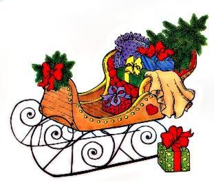 Winter clipart sleigh ride Santa sleigh clipart Vintage Clipart