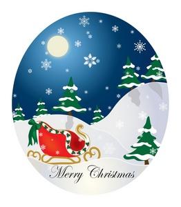 Christmas Tree clipart christmas card With Scene Clipart Christmas Christmas