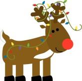 Holydays clipart raindeer Christmas santa Clipart Reindeer 8KB