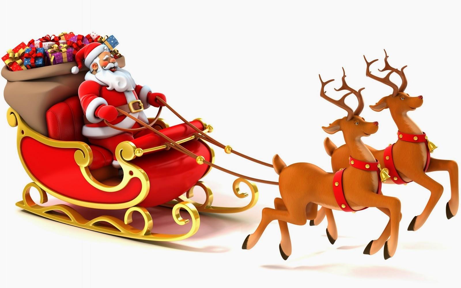 Santa clipart flying #9